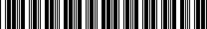 Barcode for 200208986
